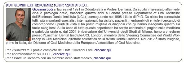 Dott. Giovanni Lodi - Responsabile equipe medica di D.O.T.